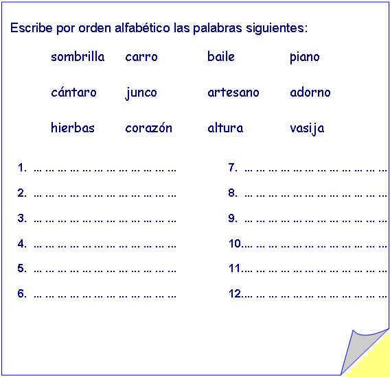 ejercicios didacticos: